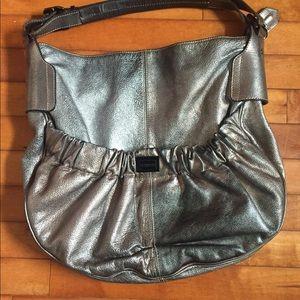 Burberry large metallic handbag